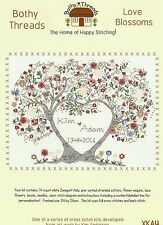 Bothy Threads Love Blossoms Counted Cross Stitch Kit 34x26cm