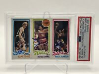 1980 Topps Larry Bird Julius Erving Magic Johnson ROOKIE Auto Gem Mint 10 RC