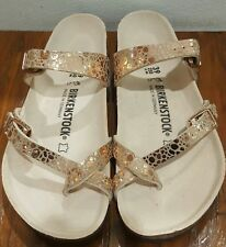 Birkenstock Mayari 1006733 Size 39/L8R Birko-Flor Metallic Stones Copper Sandals