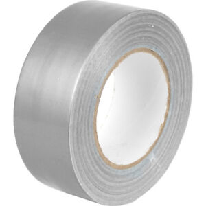 1 SILVER Gaffer Gaffa Duck Duct Cloth Tape 50mm 50m Roll All Weather Heavy Duty