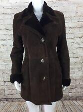 Flemington Furs Women's Brown Shearling SIze 38 Large Coat Jacket Made In Spain