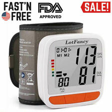 Digital Wrist High Blood Pressure Monitor BP Cuff Sensor Machine Gauge Tester