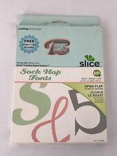 Making Memories Slice Design Card Sock Hop Fonts