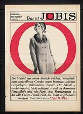 3w215/ Alte Reklame - von 1965 - Das ist JOBIS - Jobis-Mode - Bielefeld