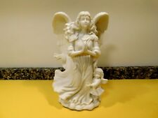 Partylite-Angel of Hope- Bisque Porcelain Taper Candle Holder #P7638 Retired NIB