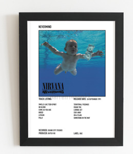 Nirvana Poster Polaroid Style Grunge Rock Album Cover Art Poster A3/ A4 Size