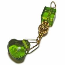 Unique Green Glass Bead Pendant By SoniaMcD