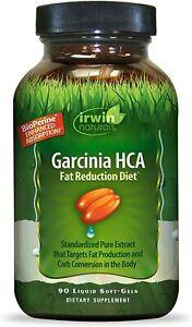 Irwin Naturals Garcinia HCA Fat Reduction Diet 90 softgels Exp 05/2021