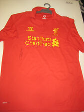 LIVERPOOL- STEVEN GERRARD HAND SIGNED 2012-13 JERSEY + PHOTO PROOF + C.O.A