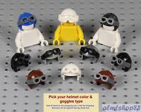 LEGO - Aviator Pilot Helmet - PICK YOUR COLORS - Goggles Hat Cap Minifig Space