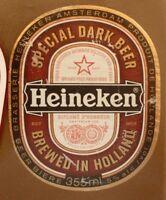 OLD NETHERLANDS BEER LABEL, HEINEKEN BREWERY AMSTERDAM HOLLAND, SPECIAL DARK 1
