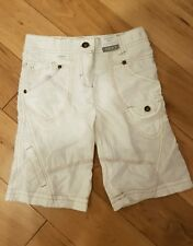 Girls White NEXT Summer Linen/cotton Shorts Age 6 Years adjustable waist BNWT .