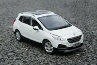 1/18 Scale Peugeot 3008 SUV White Diecast Car Model Toy Collection