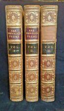 Mrs. Browning's Poems, Elizabeth Barrett Browning, 1856 4th Edition, 3 vol set