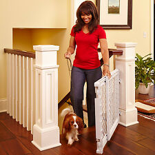 Baby Safety Gate Walk Thru Easy Step Toddler Infant Dog Fence Pet Child Stairway