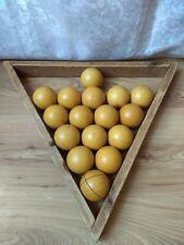 RARE Vintage Old Soviet Russian USSR Balls Billiard Table Triangle