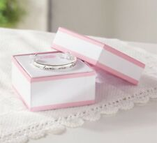 NWT Mud Pie Baby Girl Silver Plated Jesus Loves Me Cuff Bracelet In Gift Box