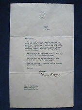 ORIGINAL TYPED LETTER SIGNED by Actress MARY PICKFORD to Dir. ALFRED GREEN, 1922