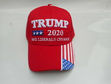 Donald Trump Cap MAKE THE LIBERALS CRY AGAIN President 2020 Embroidered Hat RED