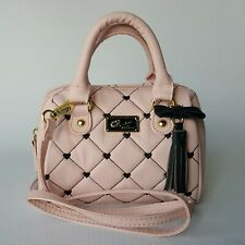 Luv Betsey by Betsey Johnson Pink Quilted Mini Barrel Bag