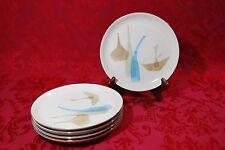 Mid Century Modern Aldo Londi Red Wing POMPEII Stoneware Salad Plate Set of 5