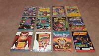 Nintendo NES SNES Lot Of 12 Strategy Guides & More In Nice Binder