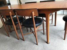 Vintage Teak G-Plan Kofod Larsen Extending Dining Table & 6 Chairs Mid Century