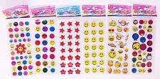 6pc Classic Cartoon Teacher Reward Gifts Stickers Kids Birthday Wall Stickers