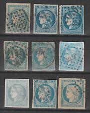 LOT CERES 45, 46, CG cote Y&T 885 €, an 1870, oblitérés , voir scans et détail