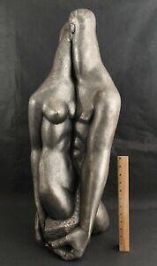 MANUEL CARBONELL American Modernist Sculpture, Pygmalian & Galatea Nude Lovers