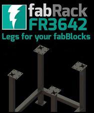 """CertiFlat FR3642 36""""X42"""" FabRack CNC Laser Tube Leg Kit for FabBlocks Heavy-Duty"""