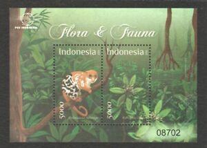 INDONESIA 2012 FLORA & FAUNA MANGROVE & BLACK SPOTTED CUSCUS SOUVENIR SHEET MINT