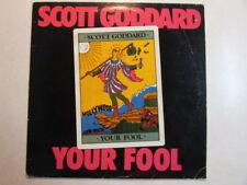 SCOTT GODDARD YOUR FOOL 1984 AUTOGRAPHED ENIGMA LP SURF PUNKS GARAGE POWER POP