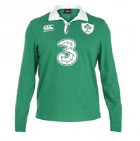 Ireland Men's Classic Long Sleeve Rugby Jersey Size S-4XL