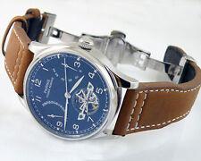 Parnis Luxury black Power Reserve Chronometer 43mm men deployant date watch 1293