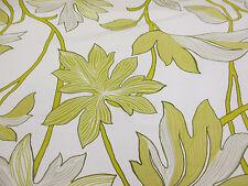 """""""CARCIOFO"""" Ombra & Foglie verdi, floreale, stampato in taffetà per tende in tessuto"""