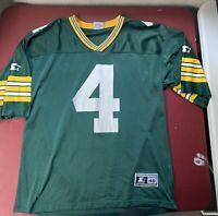 Vintage Green Bay Packers Brett Favre Starter NFL Football Jersey Size 48 Large