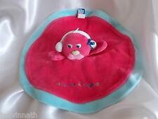 Doudou oiseau rouge et bleu, rond,  Sucre d'Orge