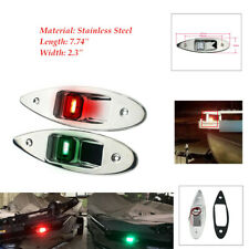 12V Marine Boat Yacht LED Beam Navigation Side bow Lights Stainless Steel