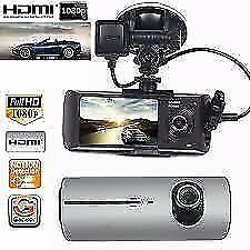 DASH CAM AUTO DOPPIA TELECAMERA GPS REGISTRATORE VIDEOCAMERA MONITOR R300 DS