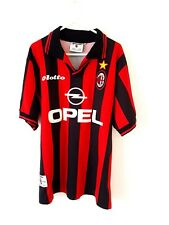 AC Milan Home Shirt 1997. Medium. Lotto. Red Adults Football Top Only M Milano.