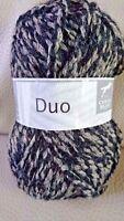 10 pelotes de laine duo   / cheval blanc - couleur : gris et noir
