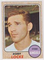 1968 Topps BOBBY LOCKE - Baseball Card # 24 - CALIFORNIA ANGELS