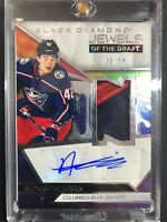 2019-20 Alexandre Texier Black Diamond Jewels of the Draft Rookie Patch Auto /99