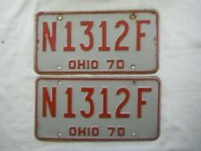 Pair 1970 Ohio License Plate Tag