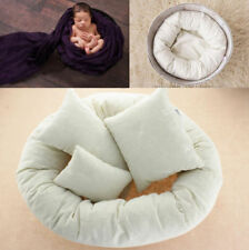 Newborn Baby Photography 4Pcs Filled Pillow Basket Wheat Donut Posing Photo Prop