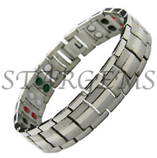 100% di titanio braccialetto terapia magnetica braccialetto Dolore Sollievo Energia Guarigione 4 nel 1