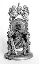 Tin toy soldier King Arthur. Metall sculpture 54 mm