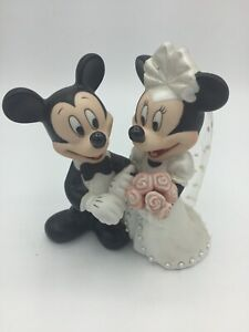 Disney Parks Mickey & Minnie Mouse Wedding Bride Groom Cake Topper Figure