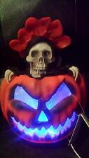 HALLOWEEN POP-UP JACK -O-LANTERN REAPER lights up & Sound Affects New with Tags